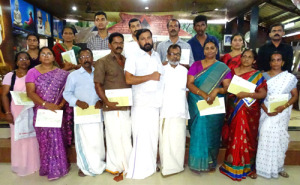 beneficiaries of 'christmas appeal' with Shri. Shajan Skariah
